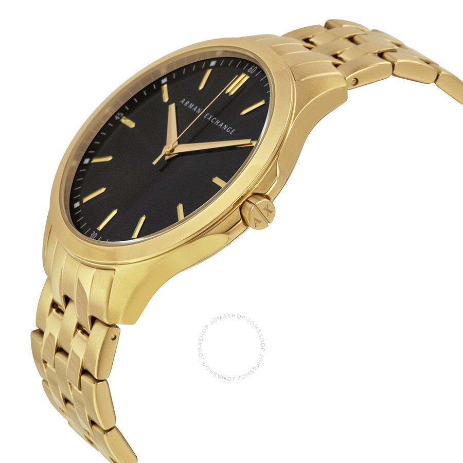 71161265 Armani Exchange Black Dial Gold-plated Men's Watch AX2145