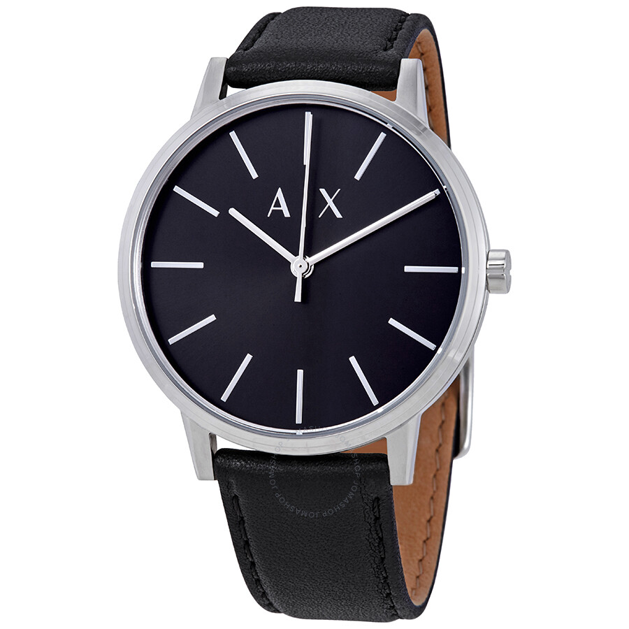 faf68aff5a5f4 Armani Exchange Black Dial Men's Leather Watch AX2703 - Armani ...