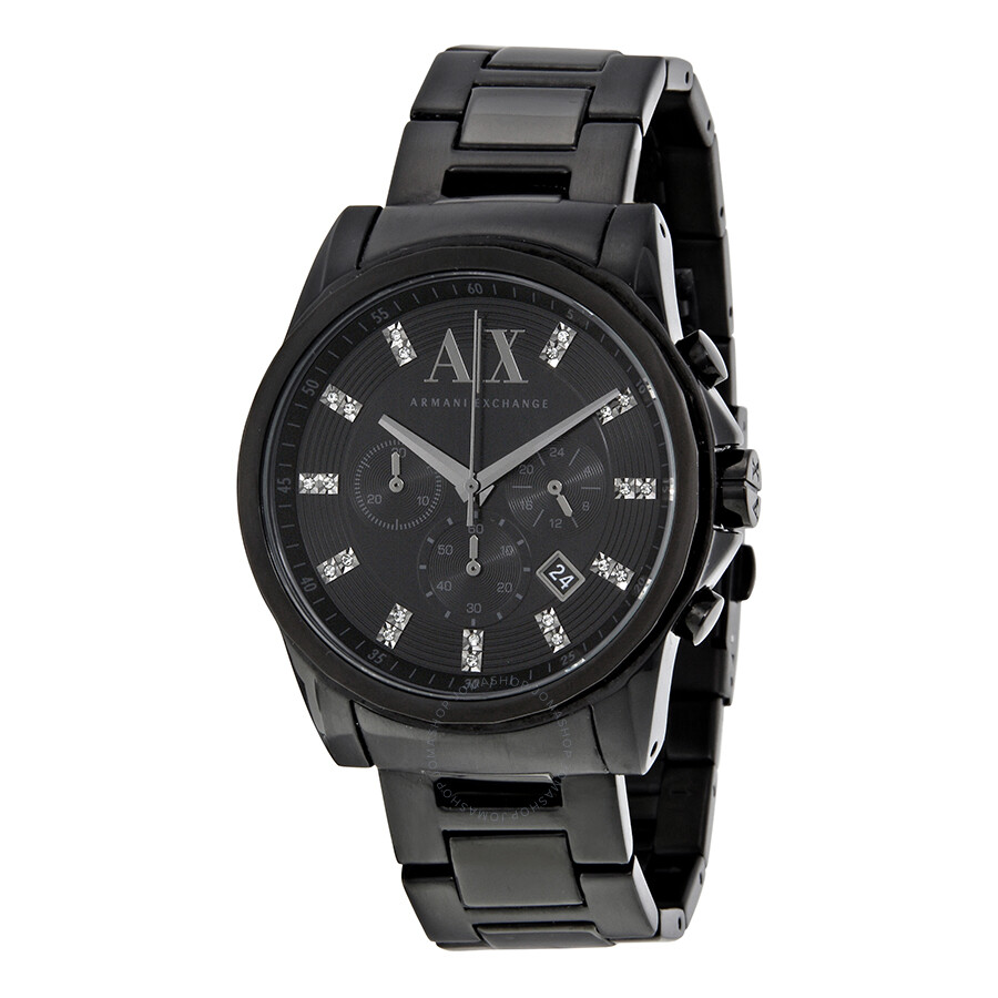 Armani exchange black dial stainless steel men 39 s watch ax2093 armani exchange watches jomashop for Armani exchange watches