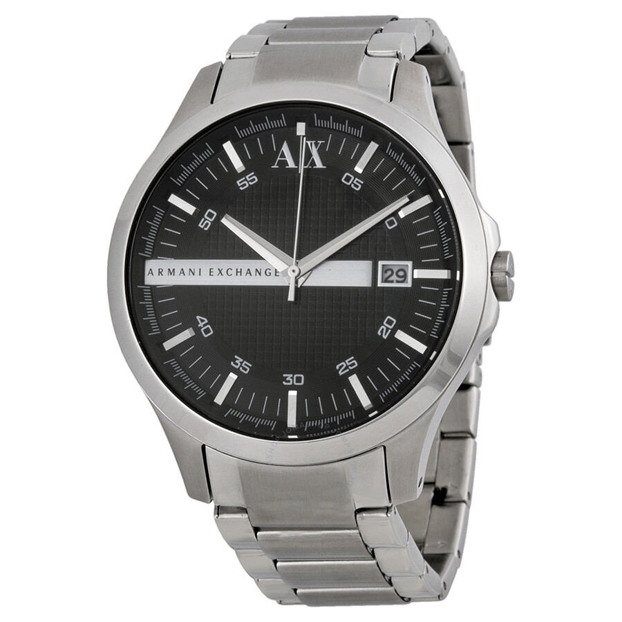 Armani exchange black dial stainless steel men 39 s watch ax2103 armani exchange watches jomashop for Armani exchange watches