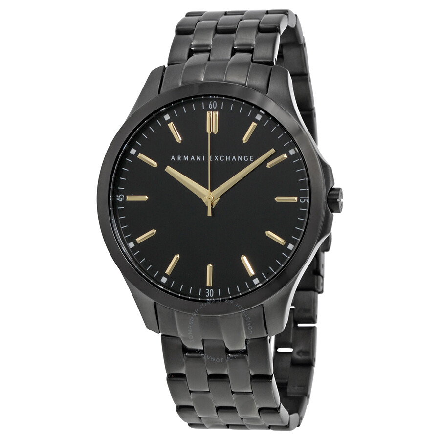 Armani exchange black dial stainless steel men 39 s watch ax2144 armani exchange watches jomashop for Armani exchange watches