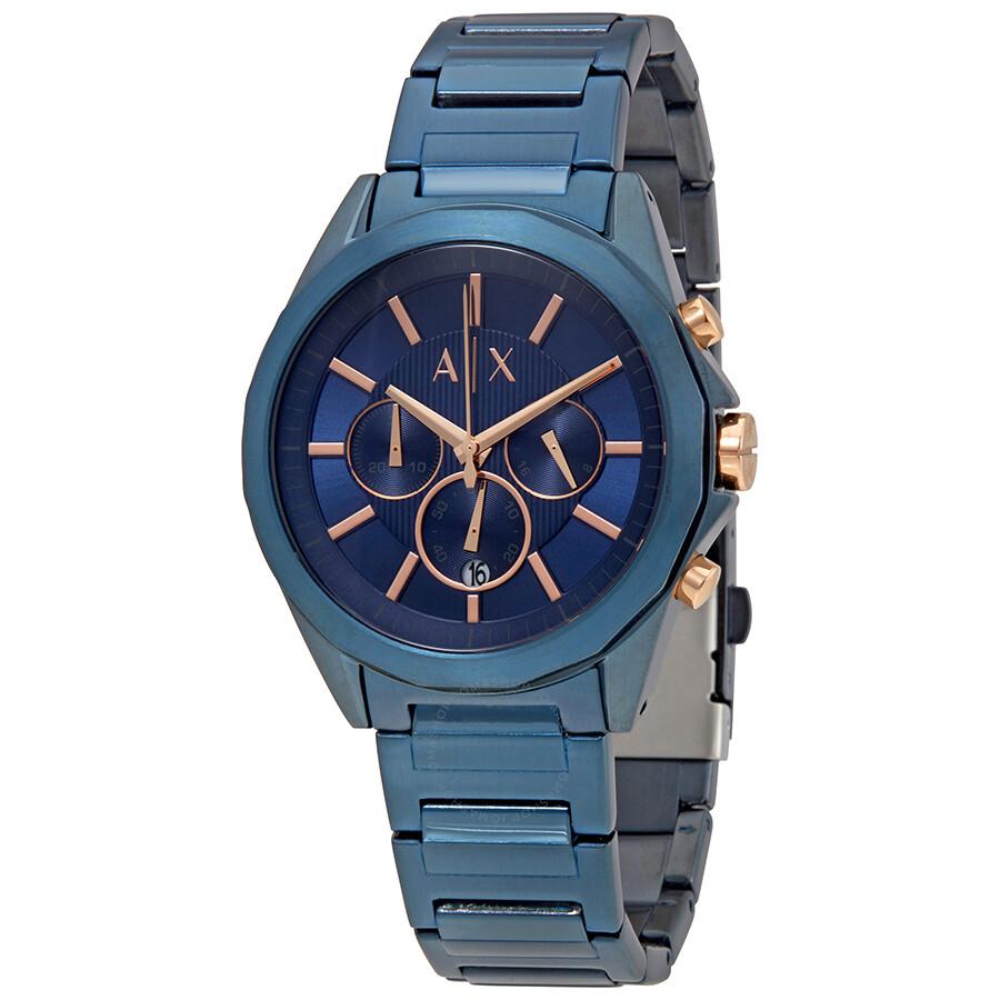 2a422f7b5e5a Armani Exchange Chronograph Blue Dial Men s Watch
