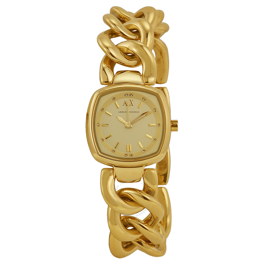 armani exchange chain collection chagne gold