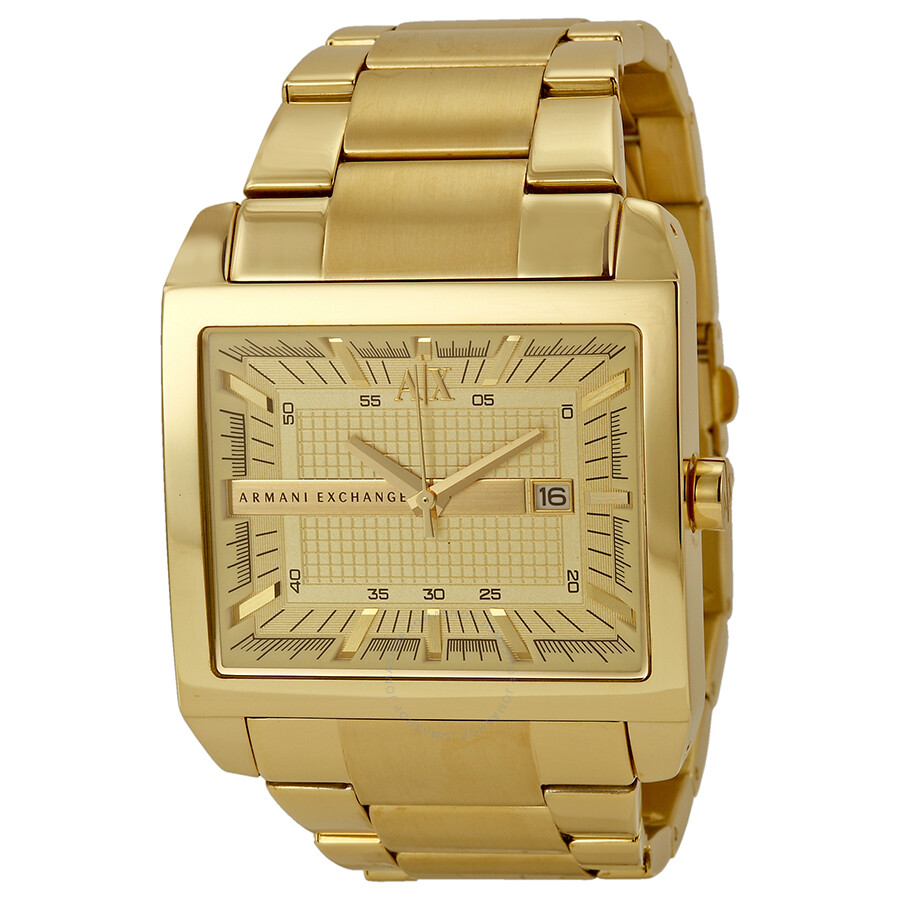 armani exchange chagne gold plated s