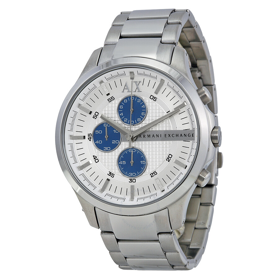 Armani exchange chronograph silver textured dial stainless streel men 39 s watch ax2136 armani for Armani exchange watches