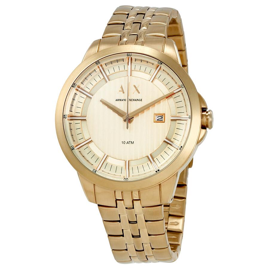 e554ad94343 Armani Exchange Copeland Men s Gold Tone Watch AX2267 - Armani ...