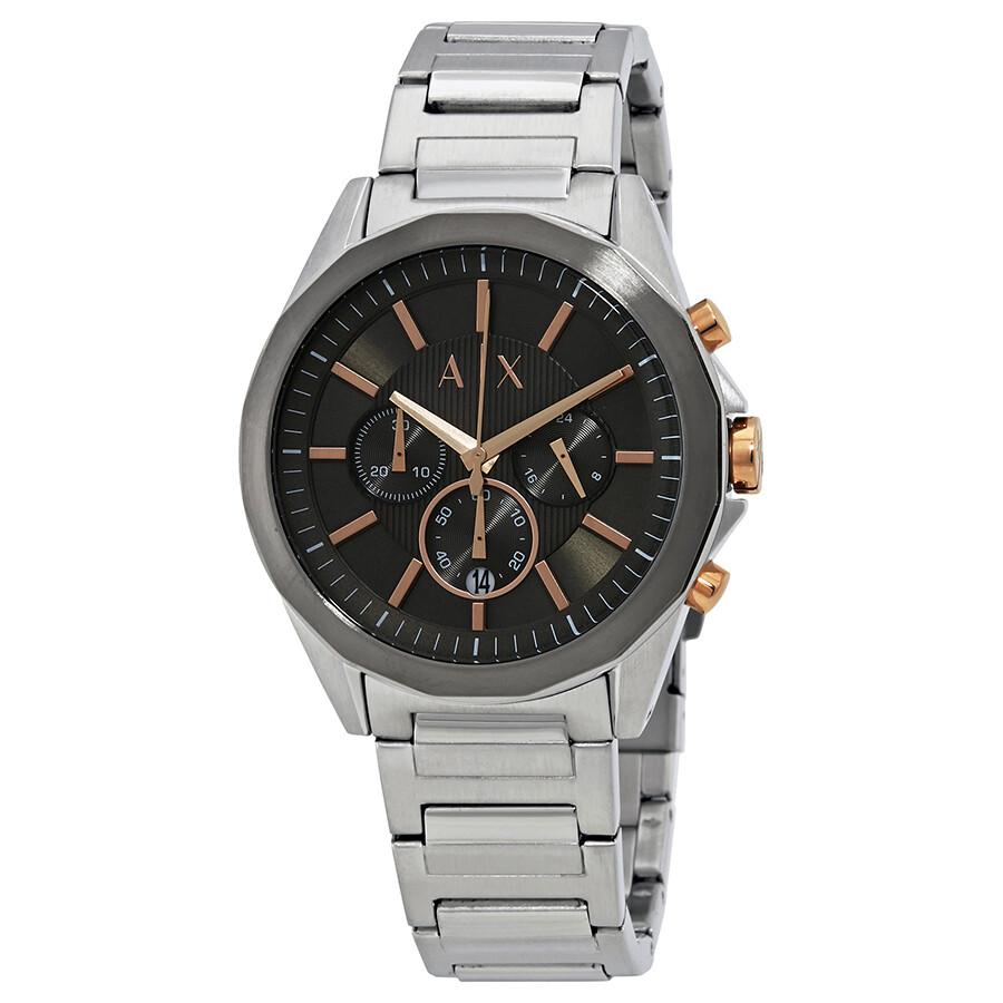 01ebf1586 Armani Exchange Drexler Grey Dial Men's Chronograph Watch AX2606 ...
