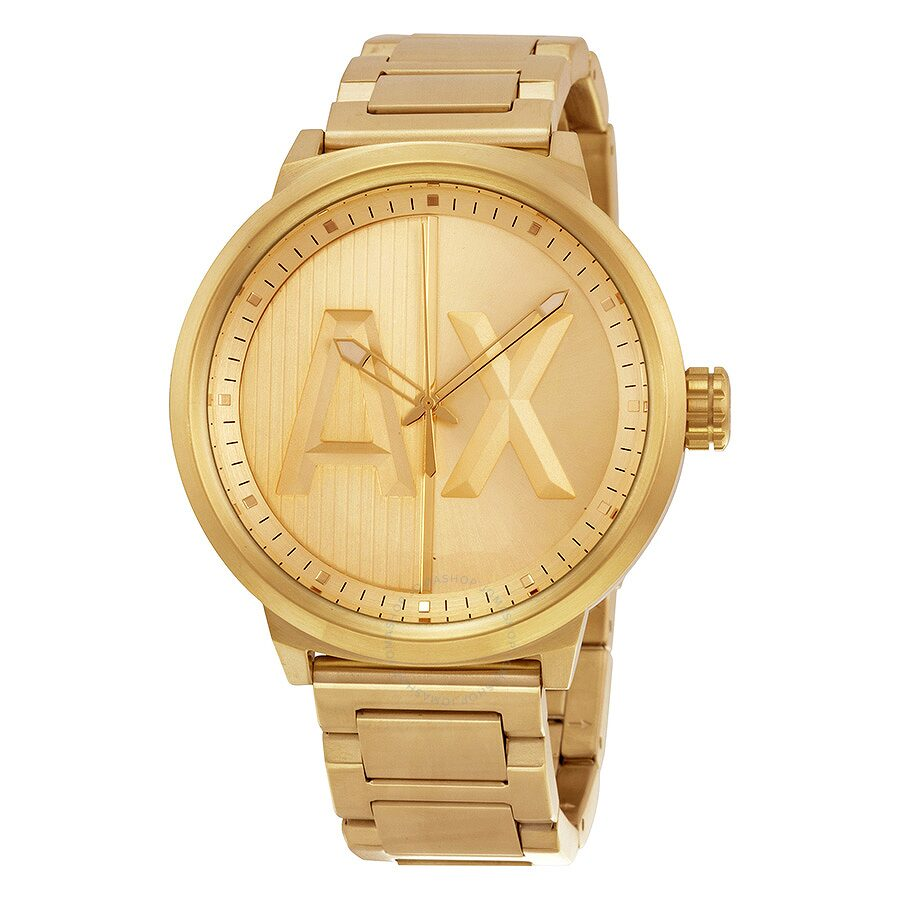 ecca091f245 Armani Exchange Gold Dial Gold Ion-plated Men s Watch Item No. AX1363
