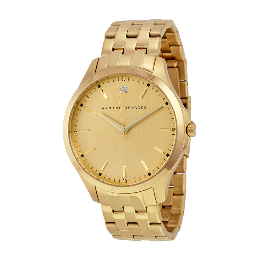 armani exchange gold tone gold tone stainless steel