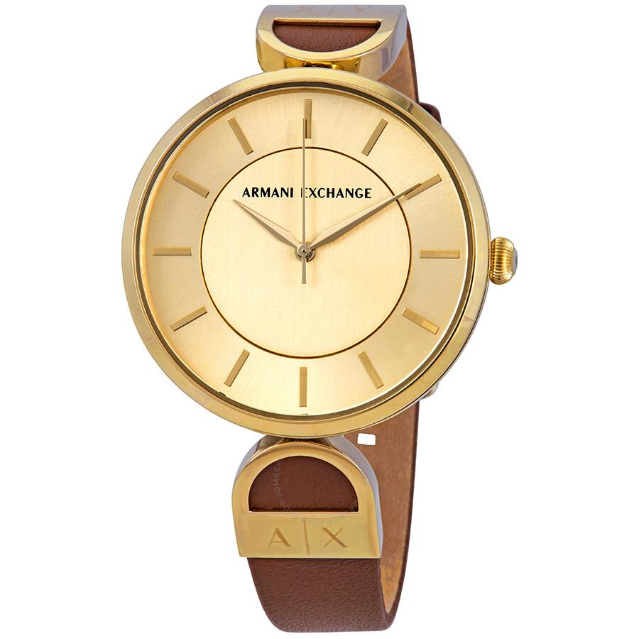 e2c2928c4ae6 Armani Exchange Gold Dial Ladies Watch AX5324 - Armani Exchange ...