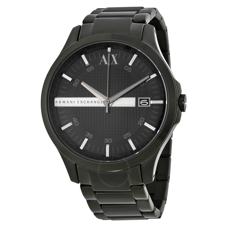 7afd0e9aaf0 Armani Exchange Hampton Black Dial Black Ion-plated Men s Watch AX2104 ...