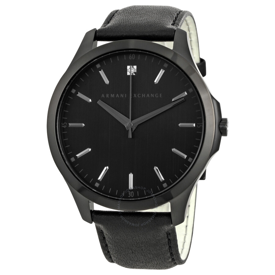 Armani exchange hampton black dial men 39 s casual watch ax2171 armani exchange watches jomashop for Armani exchange watches