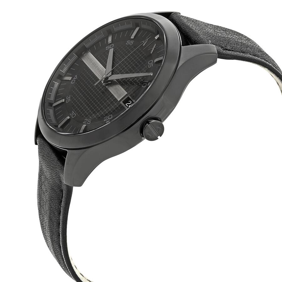 a1fe08036 Armani Exchange Hampton Black Dial Men's Watch AX2400 - Armani ...