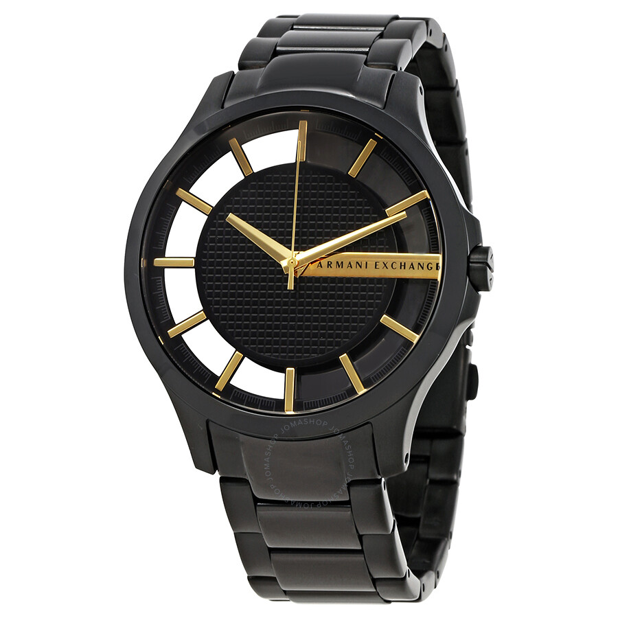 Armani exchange hampton black dial men 39 s casual watch ax2192 armani exchange watches jomashop for Armani exchange watches