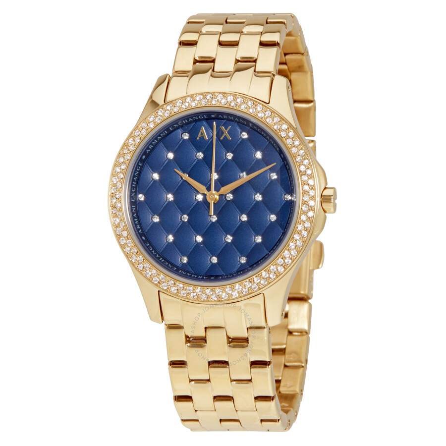 3d741369b53 Armani Exchange Hampton Navy Dial Ladies Watch AX5247 - Dress ...