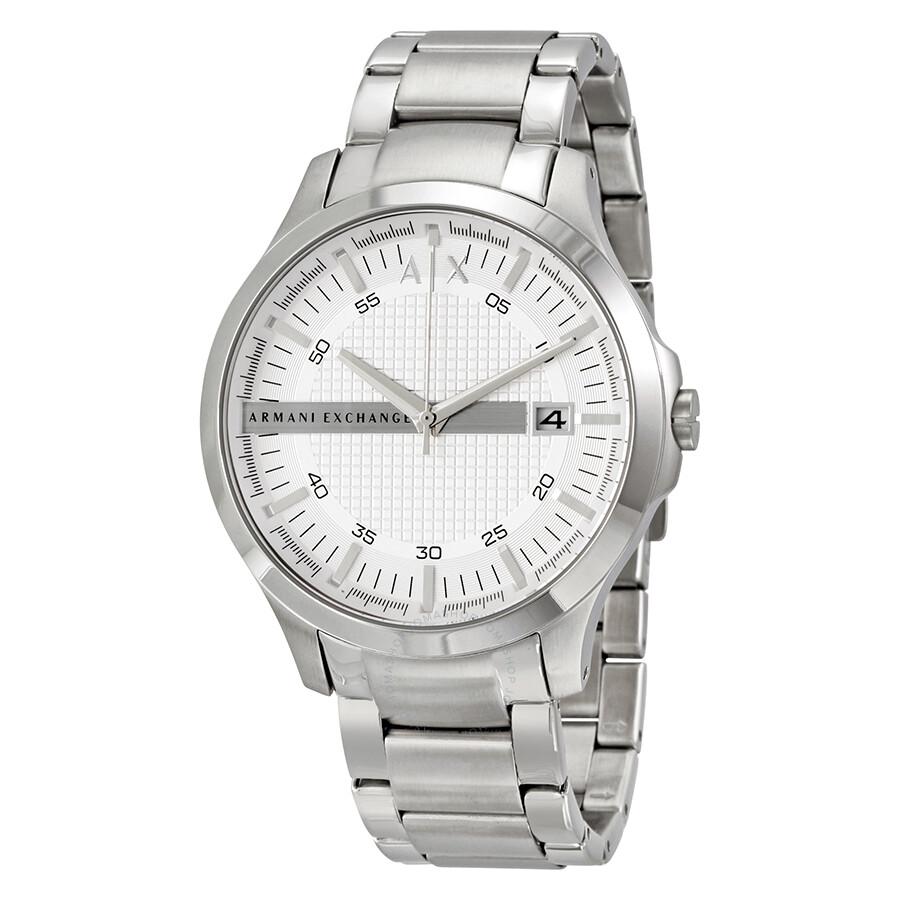 Armani Exchange Hampton Silver Dial Men's Watch AX2177 ...