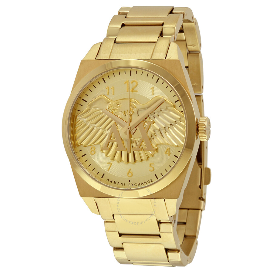 278b4c89a41 Armani Exchange Jackson Gold Dial Gold Ion-plated Men s Watch AX2309 ...