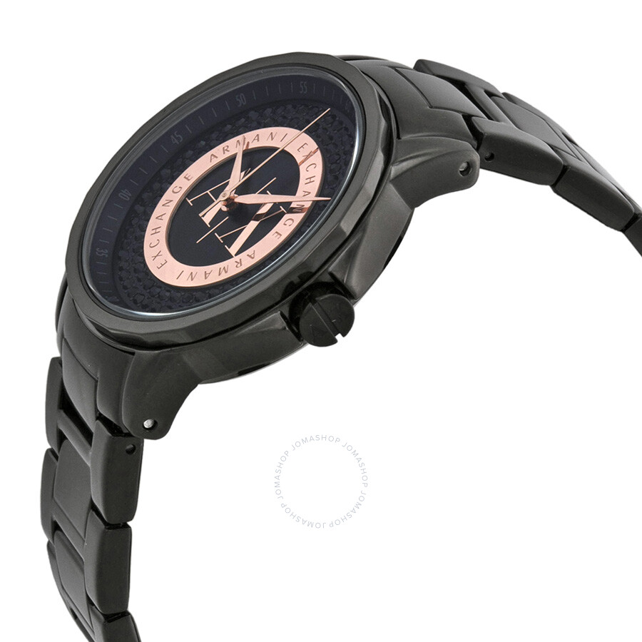 ... Armani Exchange Julietta Black and Rose Dial Black Ion-plated Ladies  Watch AX4323 ... 9fe497e9c4