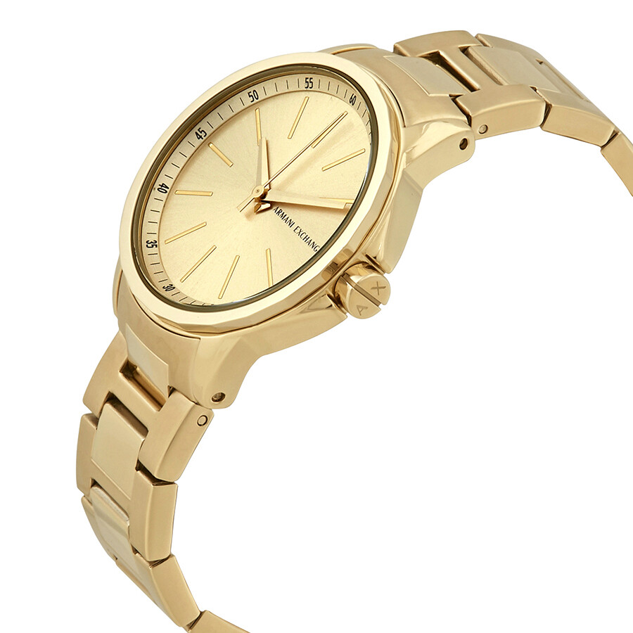 armani exchange banks gold tone ax4346