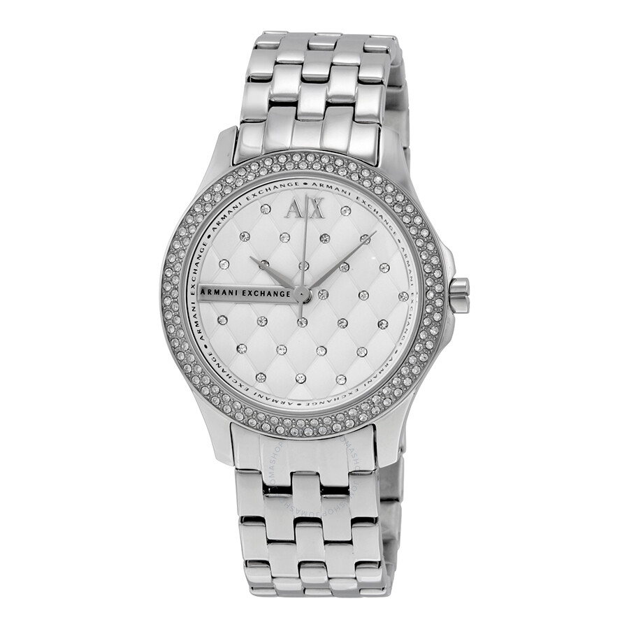 Armani exchange lady hamilton silver quilted dial ladies watch ax5215 armani exchange for Armani exchange watches