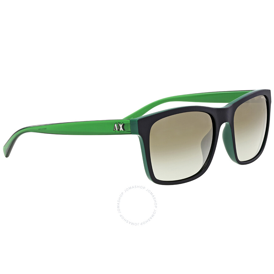be386ef917ed1 Armani Exchange Military Green Square Sunglasses Armani Exchange Military  Green Square Sunglasses ...