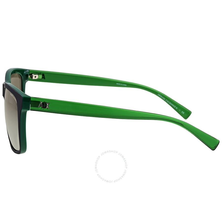 4b5fa940bc9d3 Armani Exchange Military Green Square Sunglasses - Armani Exchange ...