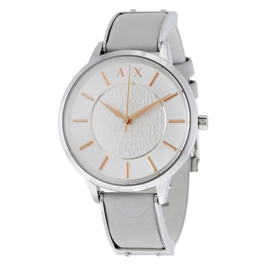 a71e1fe7 Armani Exchange Olivia Silver Dial Ladies Dress Watch AX5311