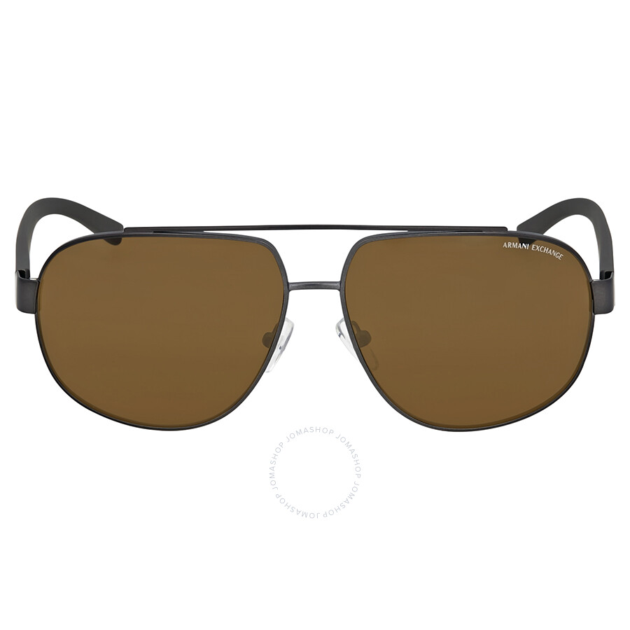 b43185a7cd Armani Exchange Polarized Brown Aviator Sunglasses Item No.  AX2019S-608983-60