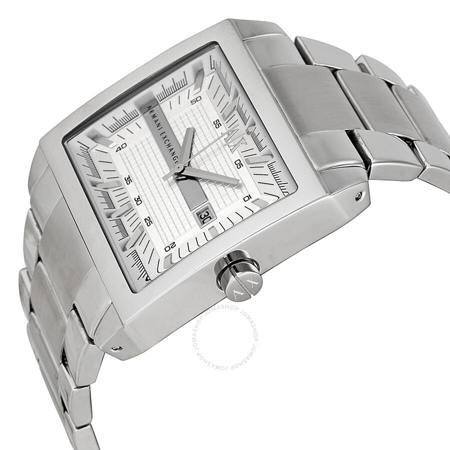 206d754d43a6 ... Armani Exchange Silver Dial Stainless Steel Men s Watch AX2201 ...