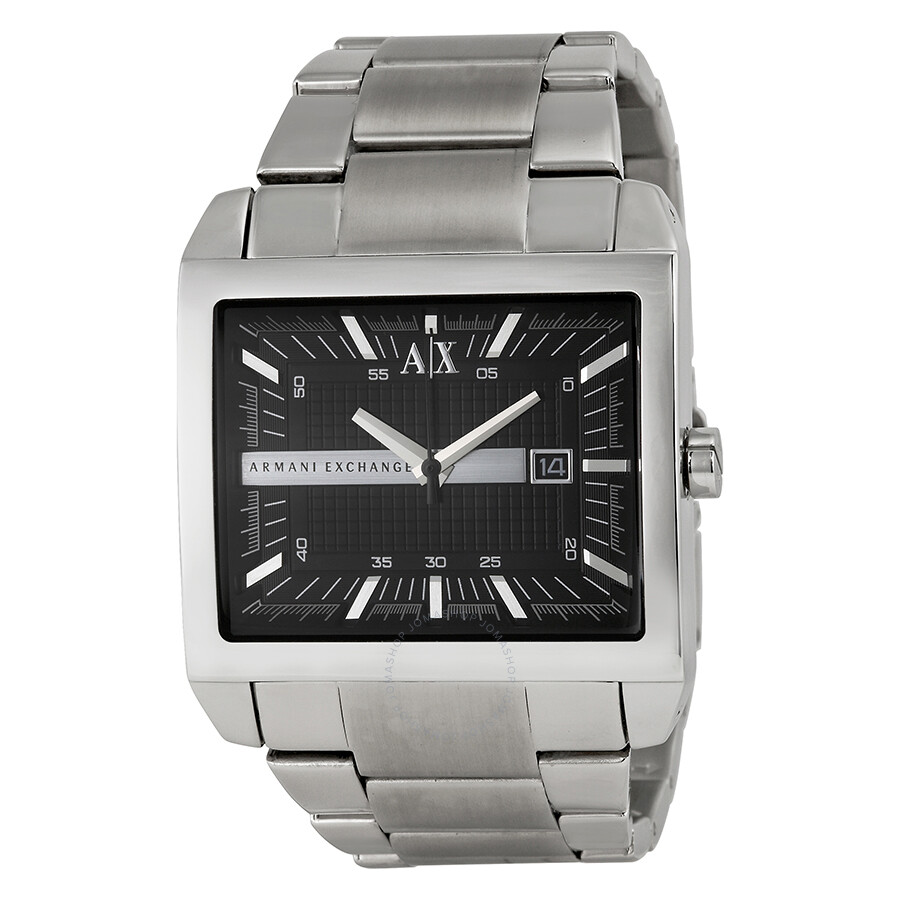 Armani exchange smart black dial stainless steel men 39 s watch ax2200 armani exchange watches for Armani exchange watches