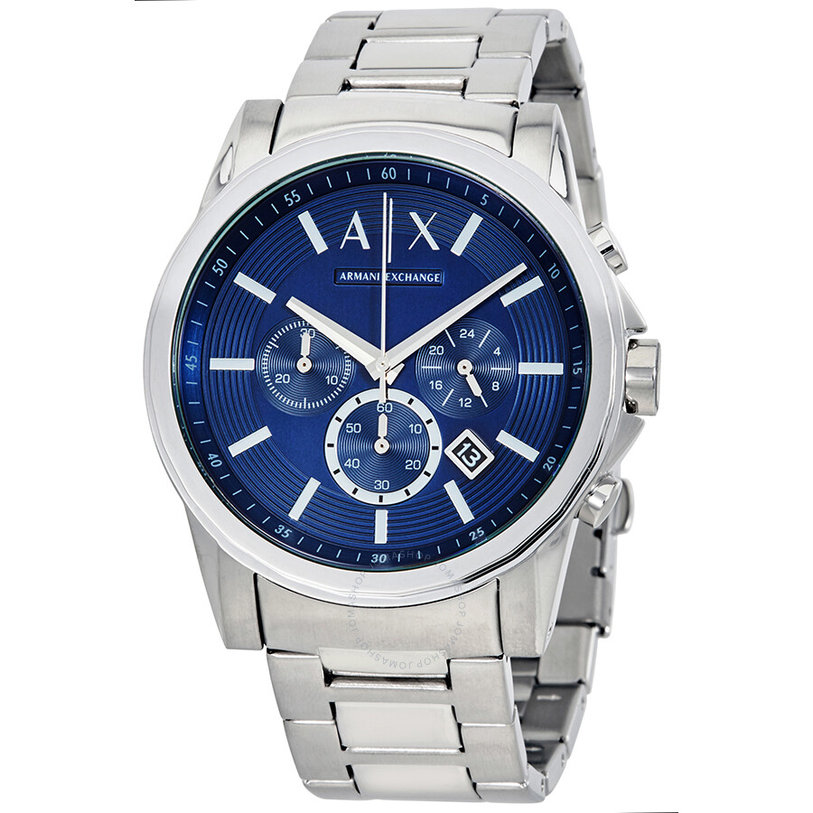 Armani exchange smart chronograph men 39 s watch ax2509 armani exchange watches jomashop for Armani exchange watches