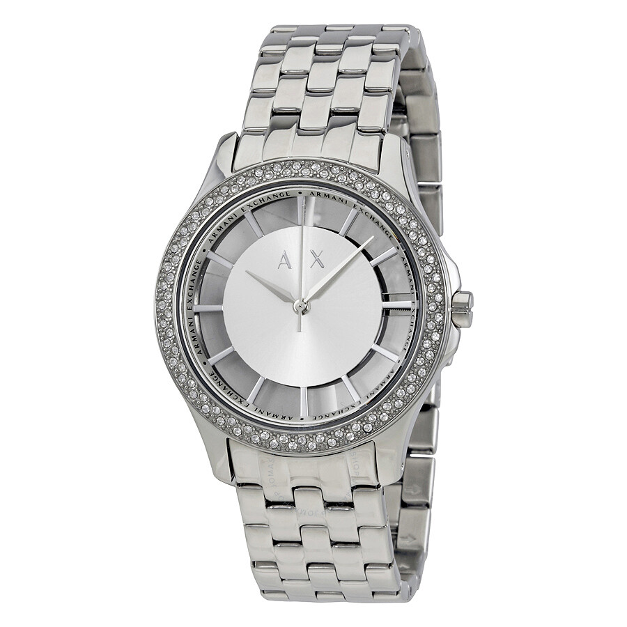 3da3a96638e Armani Exchange Smart Silver Dial Ladies Watch AX5250 - Dress ...