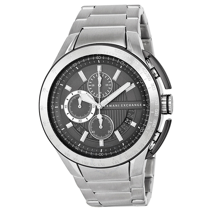 Armani exchange zero light chronograph grey dial stainless steel men 39 s watch ax1403 armani for Armani exchange watches