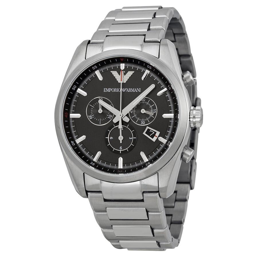 Emporio Armani Sportivo Black Dial Stainless Steel Bracelet Men s Watch  AR6050 ... 7756f57d5
