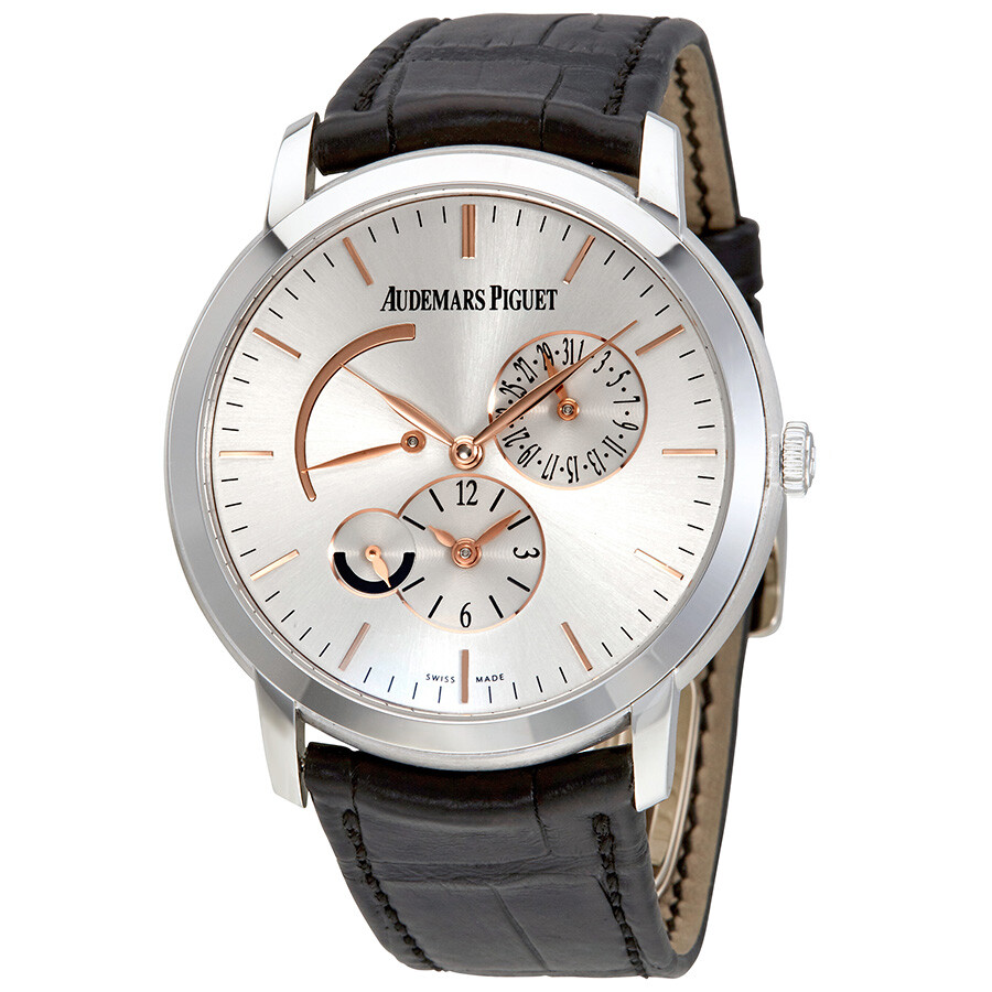 Audemars piguet jules audemars dual time silver dial automatic men 39 s watch 26380bcood002cr01 for Audemars watches