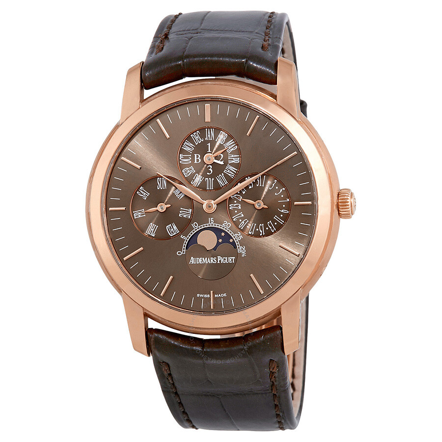 Audemars piguet jules audemars perpetual calendar automatic rose gold men 39 s watch 26390or oo for Audemars watches