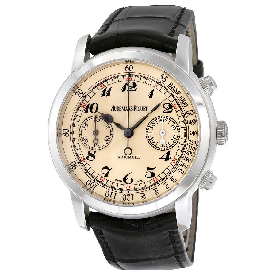 audemars piguet jules self winding chronograph 18k white
