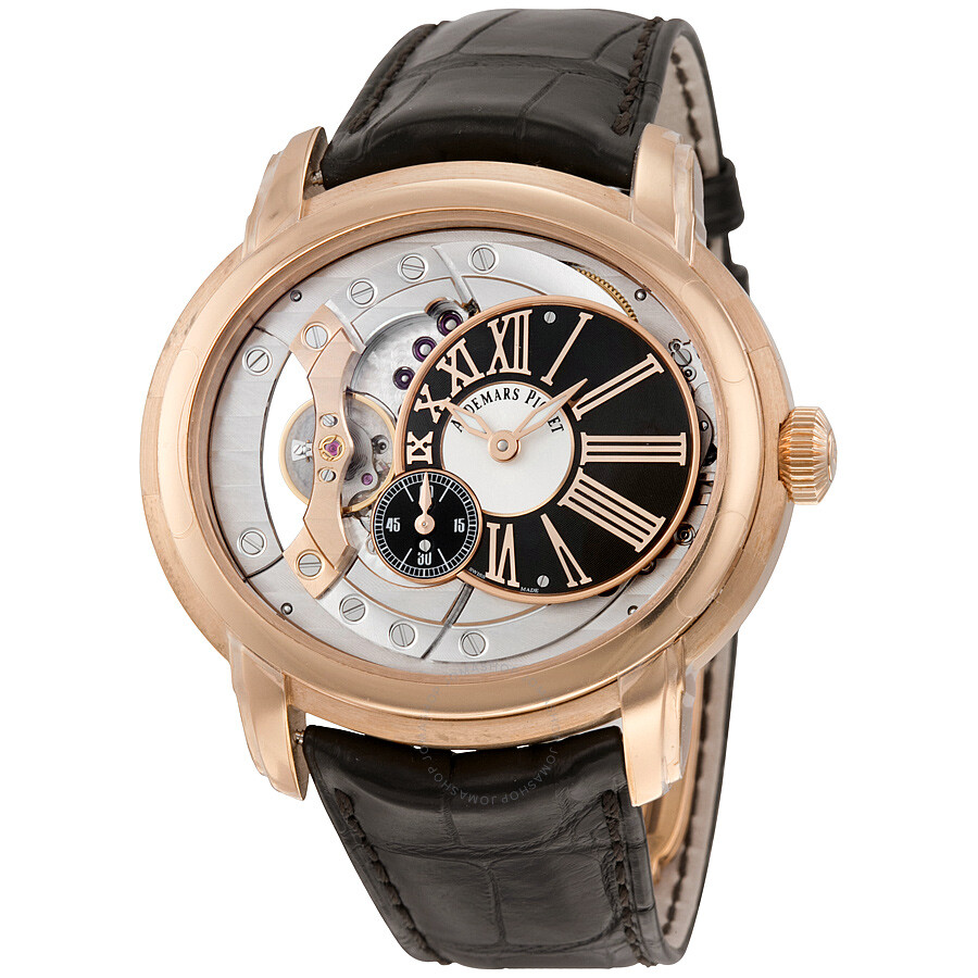 Audemars piguet millenary automatic skeleton dial men 39 s watch 15350or oo for Audemars watches