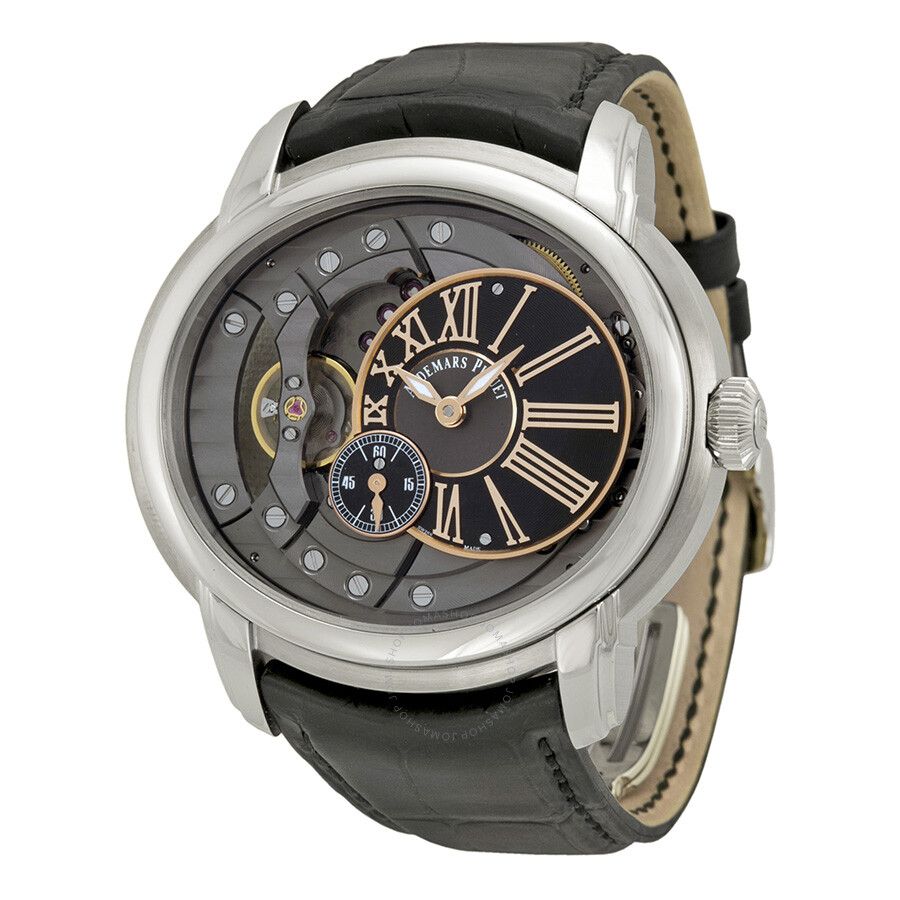 Audemars piguet millenary automatic skeleton dial men 39 s watch 15350st oo millenary for Audemars watches