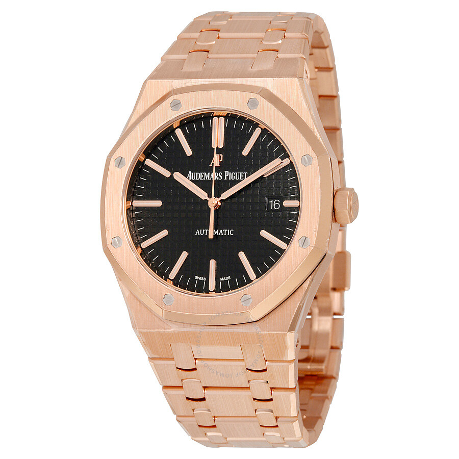 18eafdc47ec2b Audemars Piguet Royal Oak Automatic Black Dial 18kt Rose Gold Bracelet  Men s Watch 15400OROO1220OR01 Item No. 15400OR.OO.1220OR.01