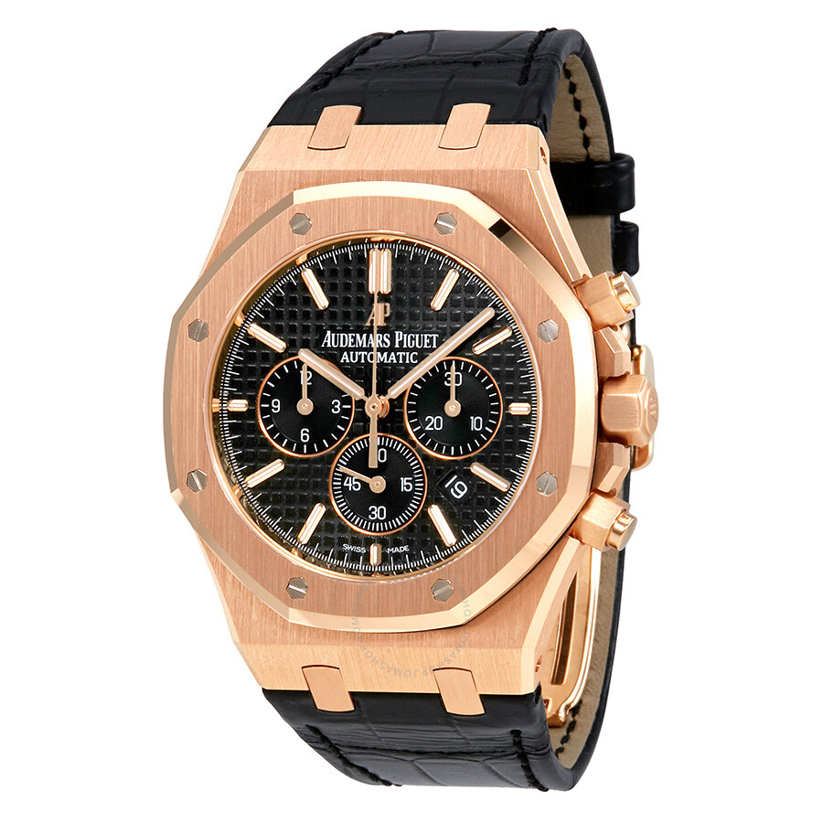 Audemars piguet royal oak black dial chronograph automatic men 39 s watch 26320orood002cr01 royal for Audemars watches