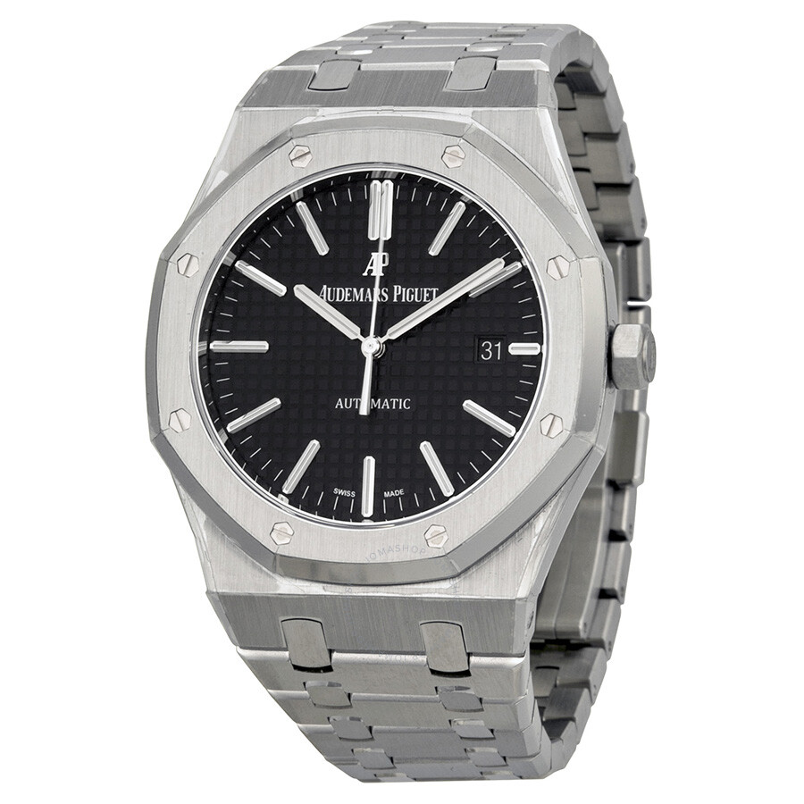 Audemars Piguet Royal Oak Black Dial Stainless Steel Bracelet Men S Watch 15400stoo1220st01