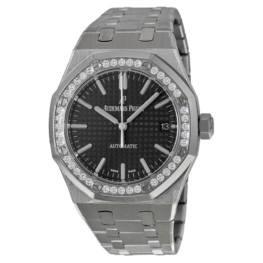 77812401363 Audemars Piguet Royal Oak Black Dial Stainless Steel Unisex Watch  15451ST.ZZ.1256ST.