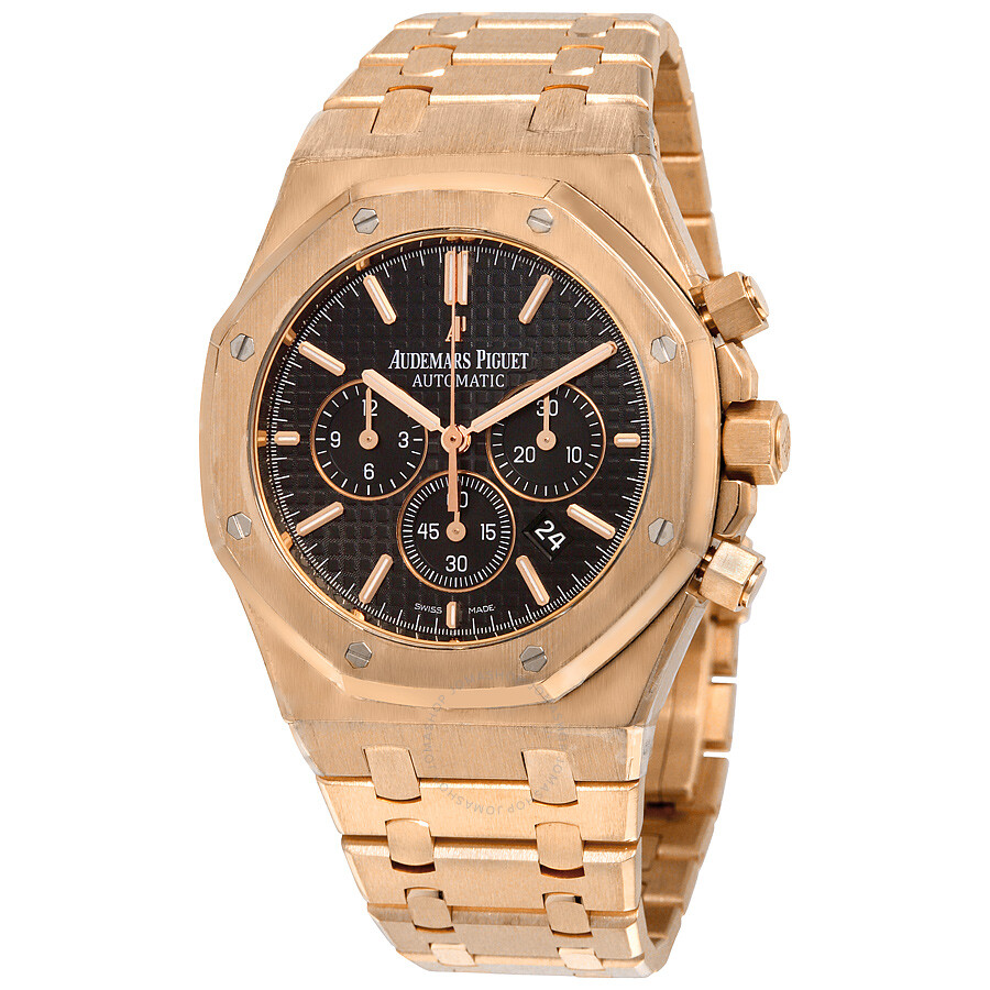 Audemars piguet royal oak chronograph black dial men 39 s watch 26320oroo1220or01 royal oak for Audemars watches