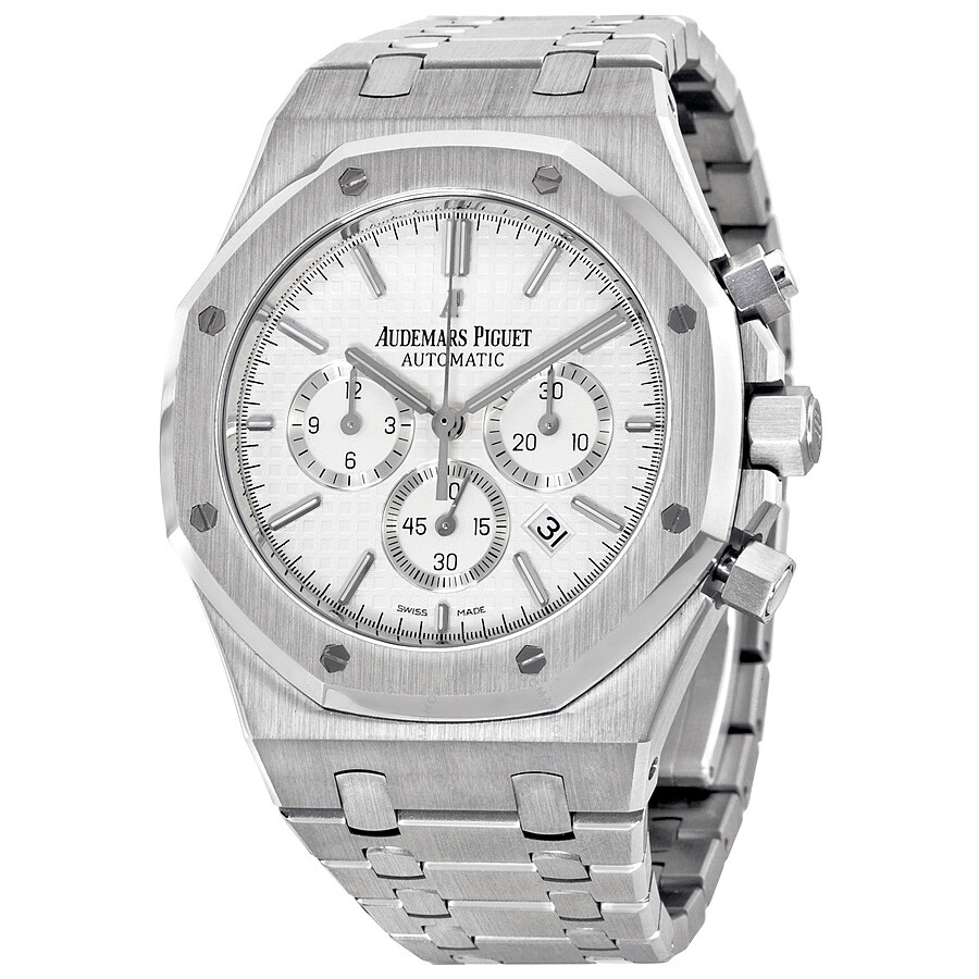 af5cd0fb846f6 Audemars Piguet Royal Oak Chronograph Silver-Tone Dial Men s Watch 26320ST.