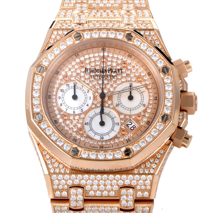 Mens Rose Gold Diamond Watches