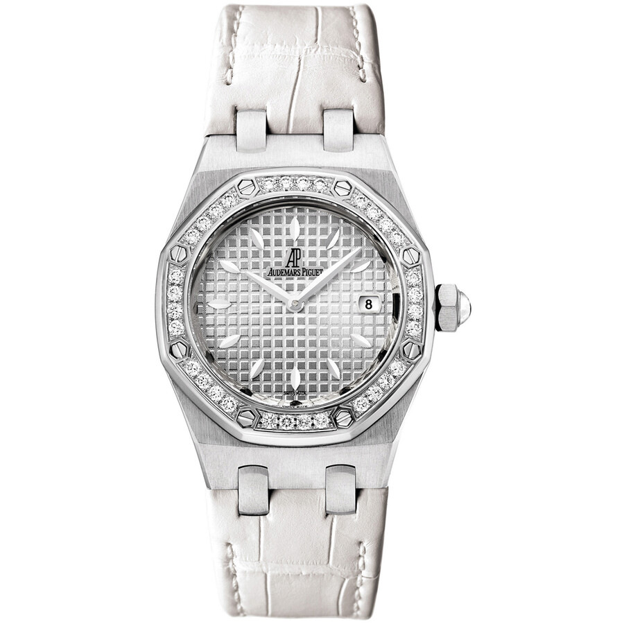 579d64468c0f Audemars Piguet Royal Oak Diamond Silver Dial Stainless Steel Ladies Watch  Item No. 67621ST.ZZ.D012CR.02