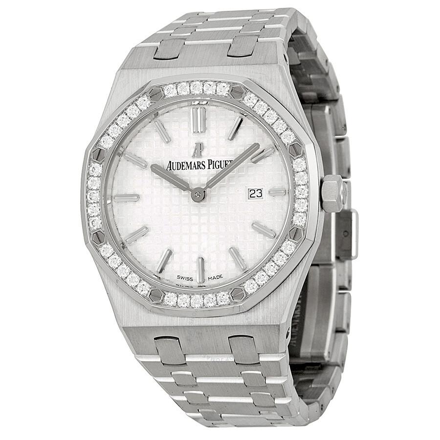 eabcbdd0cf7 Audemars Piguet Royal Oak Diamond Silver Dial Stainless Steel Ladies Watch  67651ST.
