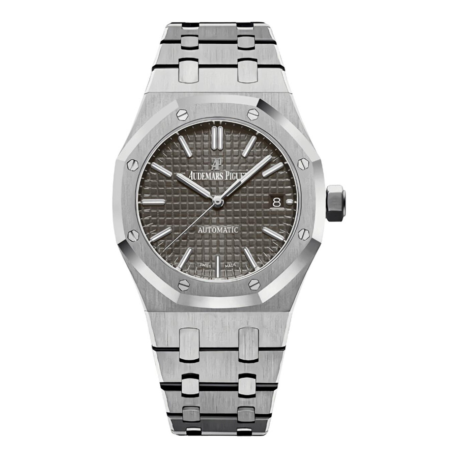 Audemars piguet royal oak grey ruthenium dial automatic ladies watch 15450st for Audemars watches