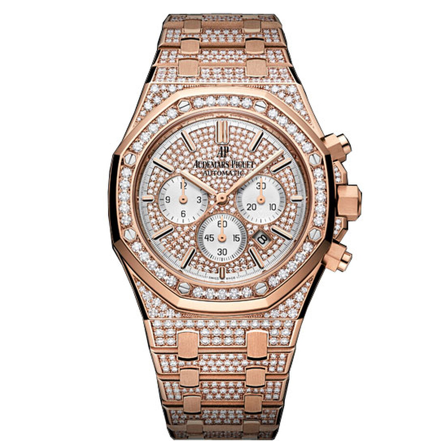6f1a8510dd040 Audemars Piguet Royal Oak Offshore 18K Pink Gold Diamond Men s Watch ...